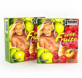 Makukondomit Sexy Fruits 24 kpl - Kondomit - 414000 - 1