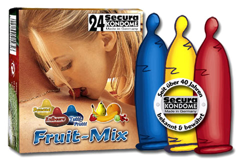 Secura Fruit-Mix Kondomit 24pack - Kondomit - 415650 - 1