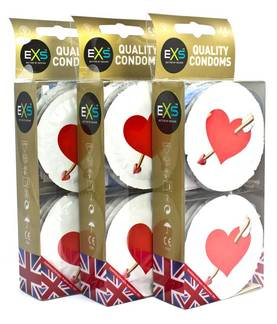 EXS Love Hearts Kondomit 12 kpl - Kondomit - 5027701000226 - 1