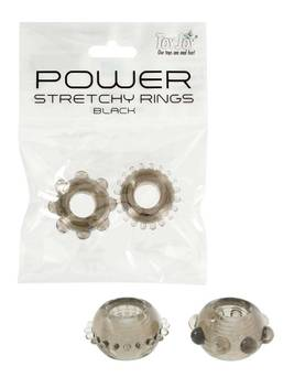 Power Stretchy Ring Penisrenkaat - Musta -  - 3006009936 - 1
