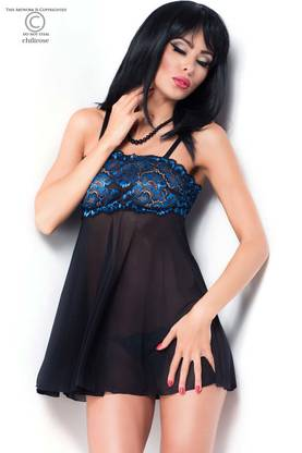 Diamond Line Babydoll Ja Stringit -  - CR3847 - 1