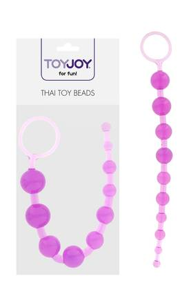 Toy Joy Thai Toy Beads Purppura - Pepputapit ja Peppukuulat - 8713221036766 - 3