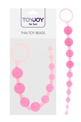 Toy Joy Thai Toy Beads Pinkki - Pepputapit ja Peppukuulat - 8713221036773 - 1